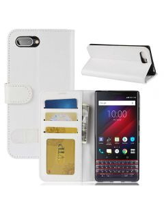 BlackBerry Key 2 le /key 2 Lite Flip Folio Leather Wallet Case with ID and Credit Card Pockets