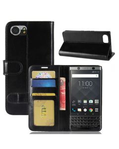 BlackBerry Keyone DTEK70 Flip Folio Leather Wallet Case with ID and Credit Card Pockets