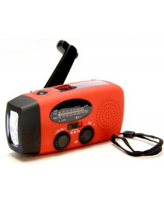 Emergency solar dynamo portable fm Radio with Power Bank