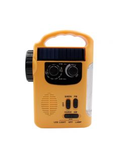 Emergency Solar Hand Crank Dynamo USB Charge AM/FM Radio LED Flashlight
