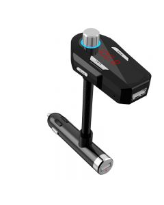 FM Transmitter for Phone/MP3/PAD in Car with 3.5mm AUX & 2 USB ports