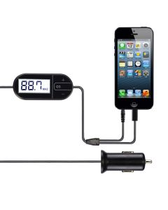 FM Transmitter for Phone/MP3/PAD with 3.5mm AUX TTLET