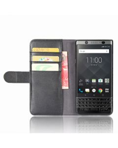 Genuine leather BlackBerry Keyone (BlackBerry Mercury /BlackBerry DTEK70) Phone Case Wallet Flip Cover Stand Display Card Pocket