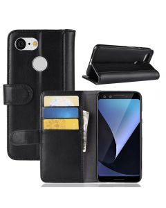 Genuine leather OPPO F9 Phone Case Wallet Flip Cover Stand Display Card Pocket
