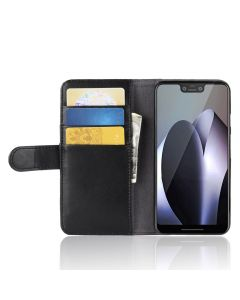 Genuine leather Google Pixel 3 Phone Case Wallet Flip Cover Stand Display Card Pocket