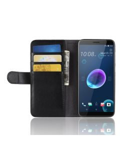 Genuine leather HTC Desire 12 Phone Case Wallet Flip Cover Stand Display Card Pocket