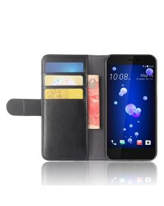 Genuine leather HTC U11 Life Phone Case Wallet Flip Cover Stand Display Card Pocket
