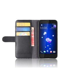 Genuine leather HTC U11 Phone Case Wallet Flip Cover Stand Display Card Pocket