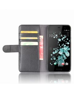 Genuine leather HTC U Play Phone Case Wallet Flip Cover Stand Display Card Pocket