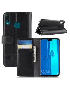 Genuine leather Huawei Y9 2019  Phone Case Wallet Flip Cover Stand Display Card Pocket