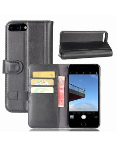 Genuine leather iPhone 7 Plus iPhone 8 Plus Phone Case Wallet Flip Cover Stand Display Card Pocket