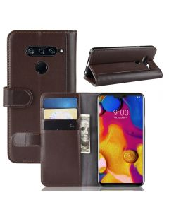 Genuine leather LG V40 ThinQ Phone Case Wallet Flip Cover Stand Display Card Pocket