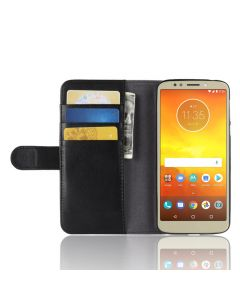 Genuine leather MOTO E5/MOTO G6 Play Phone Case Wallet Flip Cover Stand Display Card Pocket