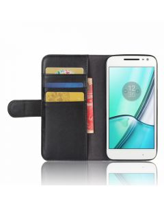 Genuine leather MOTO G4 play Phone Case Wallet Flip Cover Stand Display Card Pocket