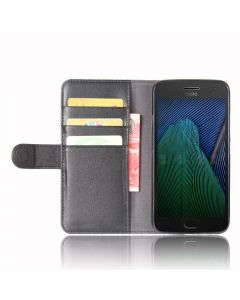 Genuine leather MOTO G5 PLUS Phone Case Wallet Flip Cover Stand Display Card Pocket