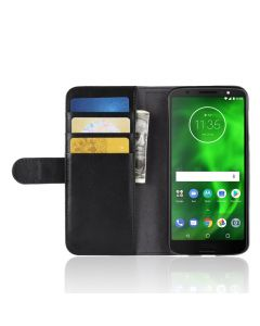 Genuine leather MOTO G6 Phone Case Wallet Flip Cover Stand Display Card Pocket