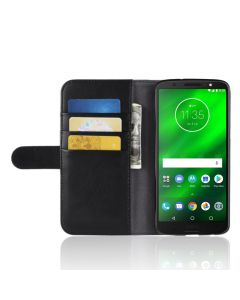 Genuine leather MOTO G6 PLUS Phone Case Wallet Flip Cover Stand Display Card Pocket