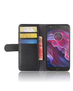 Genuine leather MOTO X4 Phone Case Wallet Flip Cover Stand Display Card Pocket