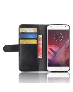 Genuine leather MOTO Z2 PLAY Phone Case Wallet Flip Cover Stand Display Card Pocket