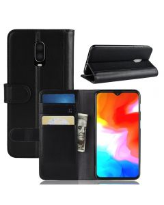 Genuine leather Oneplus 6T Phone Case Wallet Flip Cover Stand Display Card Pocket