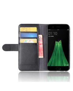 Genuine leather OPPO R11 Phone Case Wallet Flip Cover Stand Display Card Pocket