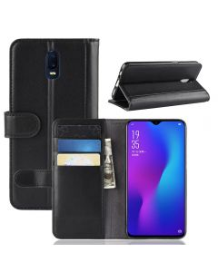Genuine leather OPPO R17 Phone Case Wallet Flip Cover Stand Display Card Pocket