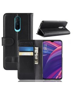 Genuine leather OPPO R17 Pro Phone Case Wallet Flip Cover Stand Display Card Pocket