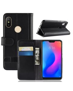 Genuine leather Redmi Note 6 Pro Phone Case Wallet Flip Cover Stand Display Card Pocket