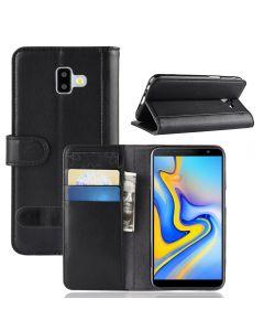 Genuine leather Samsung J6+ J6 Prime Phone Case Wallet Flip Cover Stand Display Card Pocket