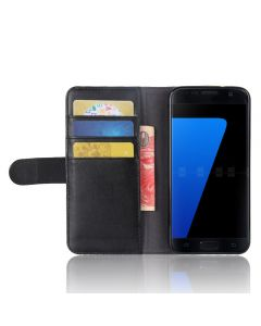 Genuine leather Samsung S7 Phone Case Wallet Flip Cover Stand Display Card Pocket