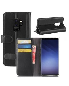 Genuine leather Samsung S9 PLUS Phone Case Wallet Flip Cover Stand Display Card Pocket