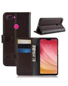 Genuine leather Xiaomi 8 lite Phone Case Wallet Flip Cover Stand Display Card Pocket