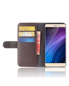 Genuine leather Xiaomi Redmi 4 prime Phone Case Wallet Flip Cover Stand Display Card Pocket