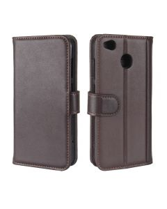 Genuine leather Xiaomi Redmi 4X Phone Case Wallet Flip Cover Stand Display Card Pocket