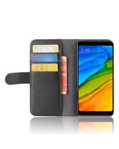 Genuine leather Xiaomi Redmi 5 Phone Case Wallet Flip Cover Stand Display Card Pocket