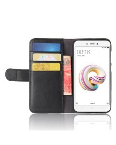 Genuine leather Xiaomi Redmi 5A Phone Case Wallet Flip Cover Stand Display Card Pocket