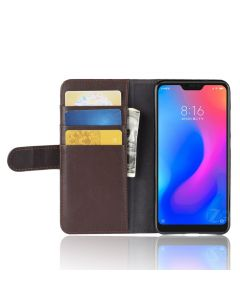 Genuine leather Xiaomi Redmi 6 Pro Phone Case Wallet Flip Cover Stand Display Card Pocket