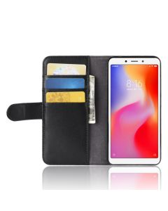 Genuine leather Xiaomi Redmi 6A Phone Case Wallet Flip Cover Stand Display Card Pocket