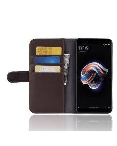 Genuine leather Xiaomi Redmi note 5 Phone Case Wallet Flip Cover Stand Display Card Pocket