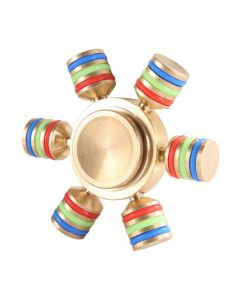 Gold 6-Spoke Brass Glowing Fidget Spinner DIY hand spinner