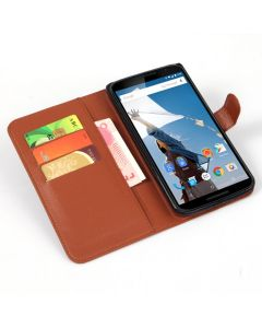 Google Nexus 6 Phone Case Wallet Flip Cover Leather Stand Display Card Pocket