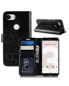 Google Pixel 3 Lite Flip Folio Leather Wallet Case with ID and Credit Card Pockets