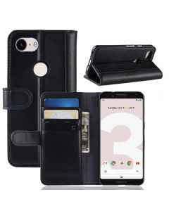 Google Pixel 3 lite Phone Case Wallet Flip Cover Folio Genuine Leather Case Stand Display Card Pocket