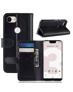 Google Pixel 3 lite XL Phone Case Wallet Flip Cover Folio Genuine Leather Case Stand Display Card Pocket