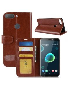 HTC Desire 12 Plus Flip Folio Leather Wallet Case with ID and Credit Card Pockets