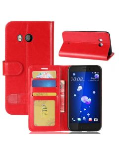 HTC U11 Flip Folio Leather Wallet Case with ID and Credit Card Pockets