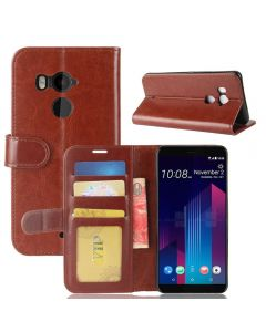 HTC U11 Plus Flip Folio Leather Wallet Case with ID and Credit Card Pockets
