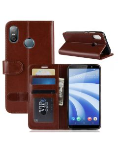 HTC U12 life Flip Folio Leather Wallet Case with ID and Credit Card Pockets