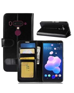 HTC U12 Plus Flip Folio Leather Wallet Case with ID and Credit Card Pockets