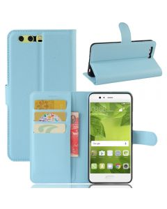 Huawei P10 Plus Ultra Slim Wallet Flip Cover Leather Phone Case Kickstand Card Pocket-Blue